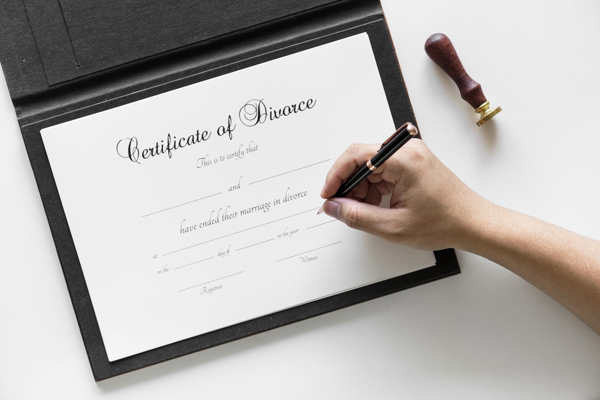 Развод без присутствия в суде.