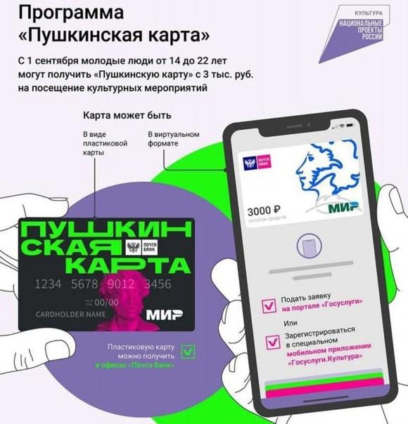 Пушкинская карта: как получить для молодёжи, как вывести деньги